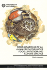 Food hoarding of an avian predator under food limitation and climate change